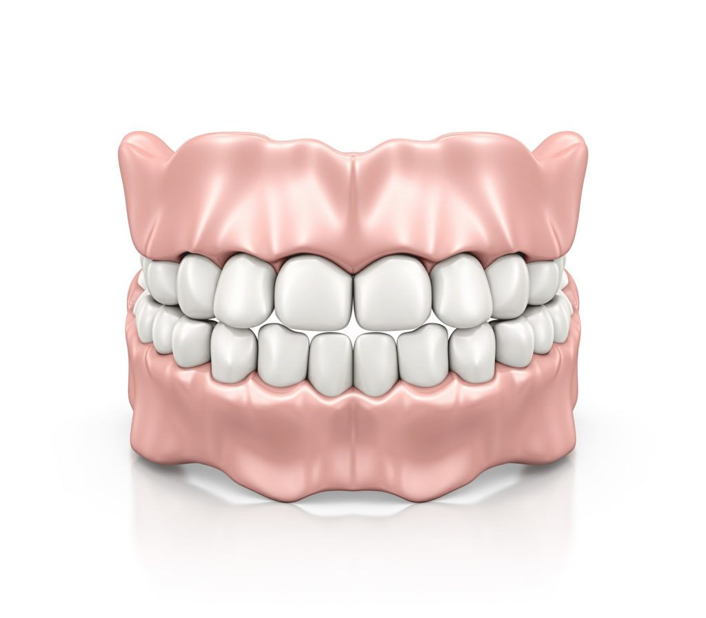 Illustration of a dentures model